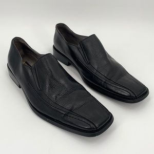 Stacy Adams Hillman Bike Toe Loafer Black Size 10
